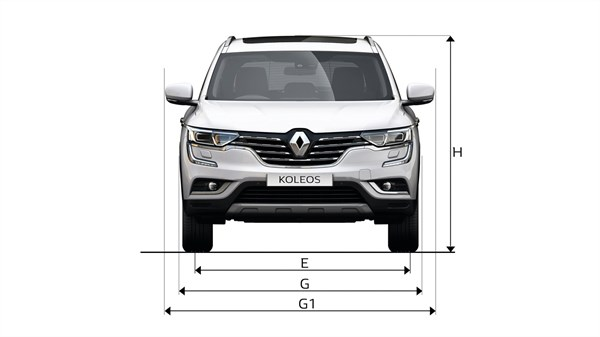Renault KOLEOS - front view dimensions